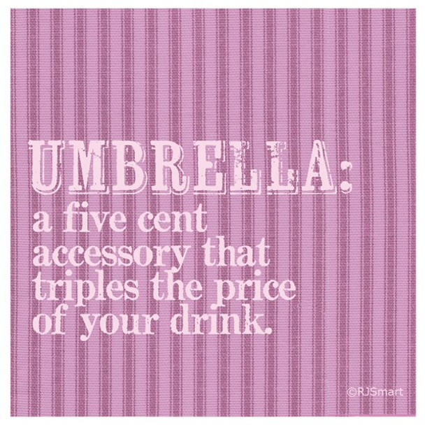 Umbrella Absorbent Beverage Coasters by RJ Smart, Set of 12