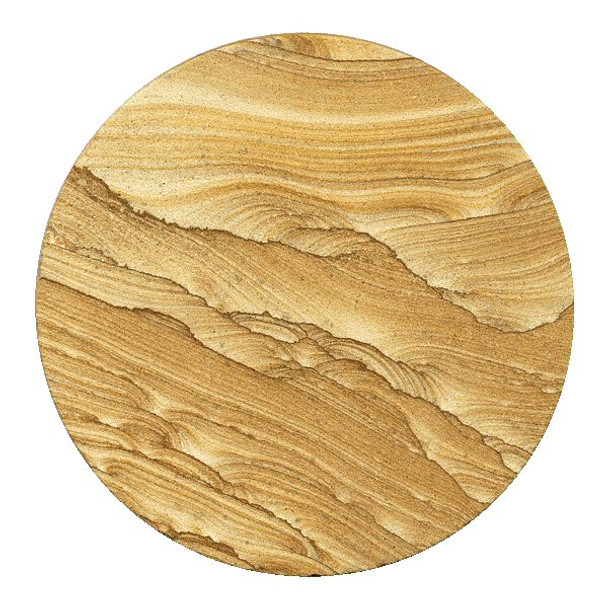 Picture Sandstone Round Beverage Coasters, Set of 8