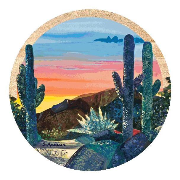 Dusk at Gloria's Canyon Sandstone Coasters by Diana Madaras, Set of 8