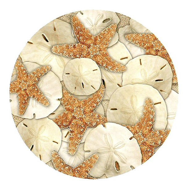 Seaside Treasures Starfish Sand Dollars Sandstone Coasters, Set of 8