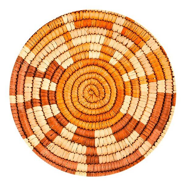 Southwest Woven Pattern Sandstone Round Beverage Coasters, Set of 8