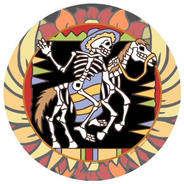 Horse Skeletons Beverage Coasters by Hand N Hand Designs, Set of 12