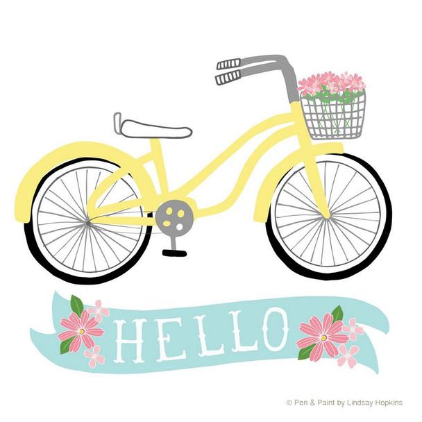 Hello Bike Absorbent Beverage Coasters, Set of 12