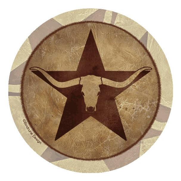 Texas Star Longhorn Beverage Coasters by Bindrune Design, Set of 12