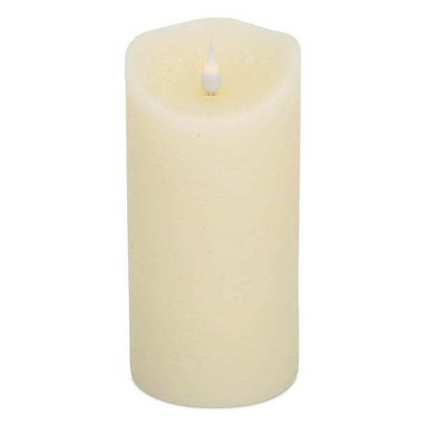 """3"""" x 7.5"""" Simplux LED Ivory Melted Candles with Moving Flame, Set of 2"""