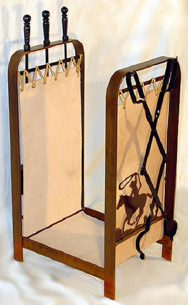 Choice Southwest Metal Fireplace Tools And Log Rack 66 Designs