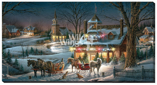 Evening Rehearsals Holiday Season LED Lighted Wrapped Canvas Giclee Art Print Wall Art