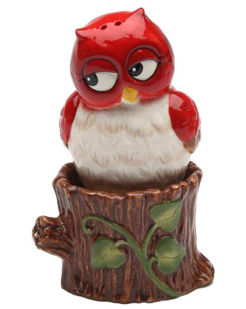 Christmas Owl Salt and Pepper Shakers by Laurie Furnell, Set of 4