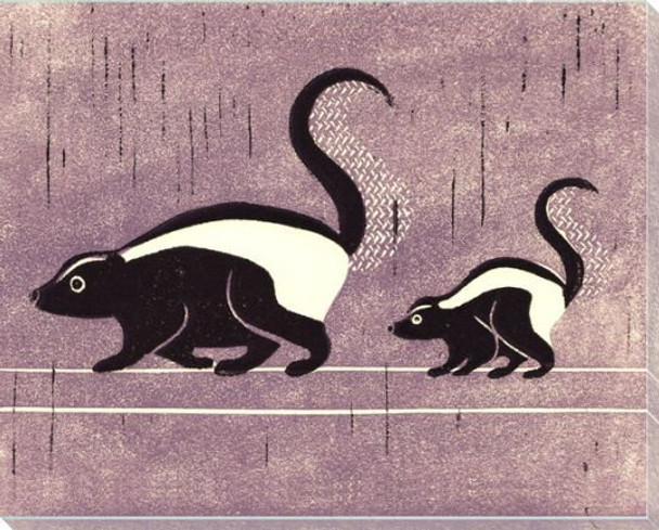 Skunks Wrapped Canvas Giclee Art Print Wall Art