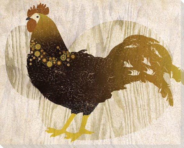 Adorned Chicken Bird 2 Wrapped Canvas Giclee Print Wall Art