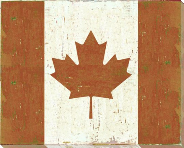 Canada Canadian Flag Wrapped Canvas Giclee Print Wall Art Wall