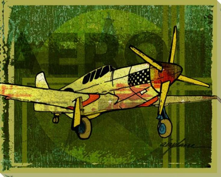 Need Aero Airplane Wrapped Canvas Giclee Print Wall Art