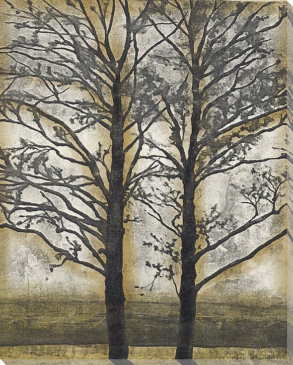 Tandem Trees II Wrapped Canvas Giclee Print Wall Art