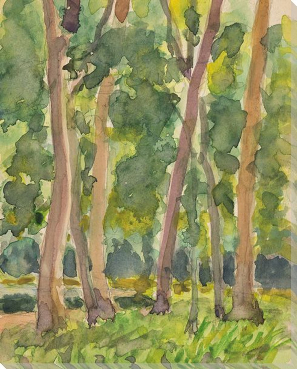Landscape C 1940 Trees Wrapped Canvas Giclee Print Wall Art