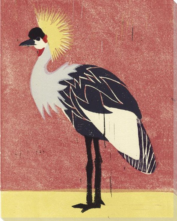 Crowned Crane Bird Wrapped Canvas Giclee Print Wall Art