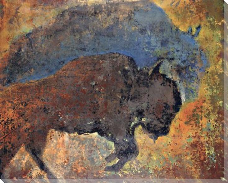 Big Buffalo Wrapped Canvas Giclee Print Wall Art