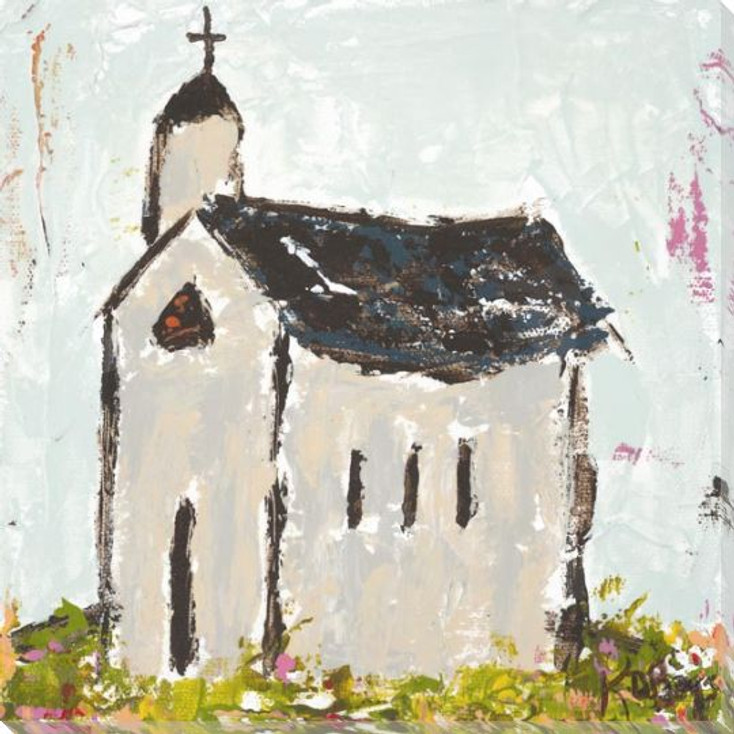 Chapel Side Plan Wrapped Canvas Giclee Art Print Wall Art