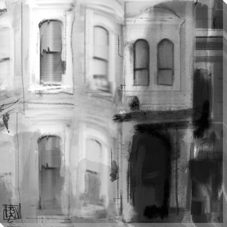 Urban View 2 Wrapped Canvas Giclee Print Wall Art
