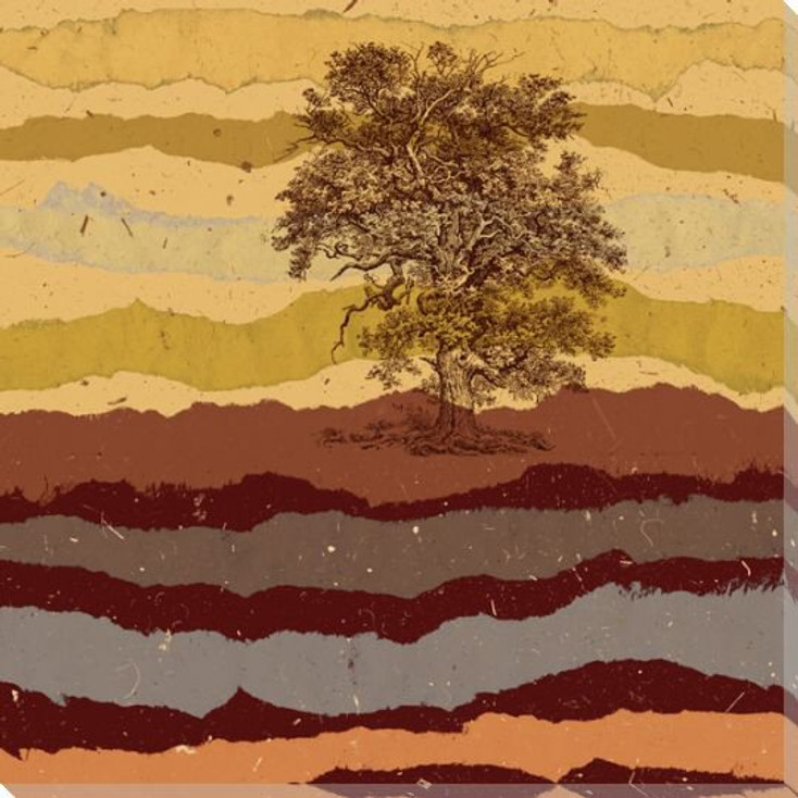 Autumn Tree Wrapped Canvas Giclee Print Wall Art