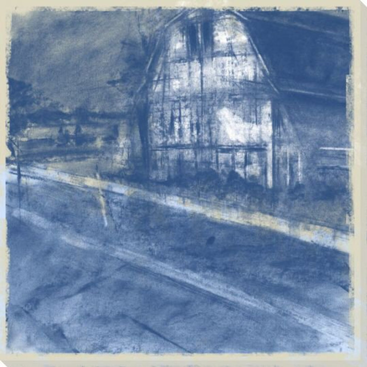 Along the Road Barn Wrapped Canvas Giclee Print Wall Art