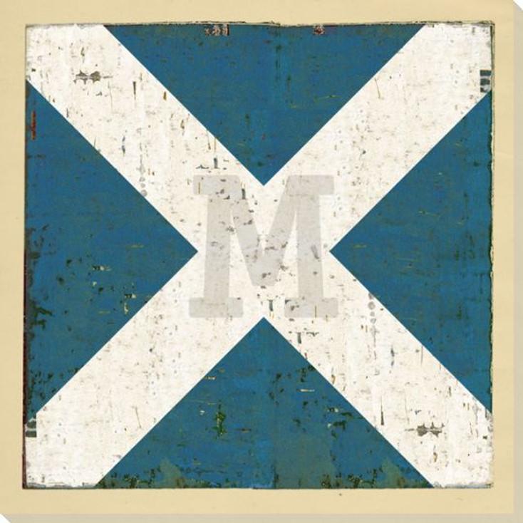 Intl. Maritime Signal Flag M Wrapped Canvas Giclee Print Wall Art