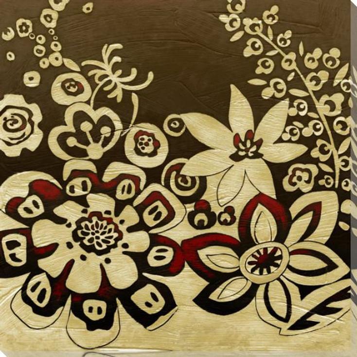 Kyoto Flower Garden II Wrapped Canvas Giclee Print Wall Art