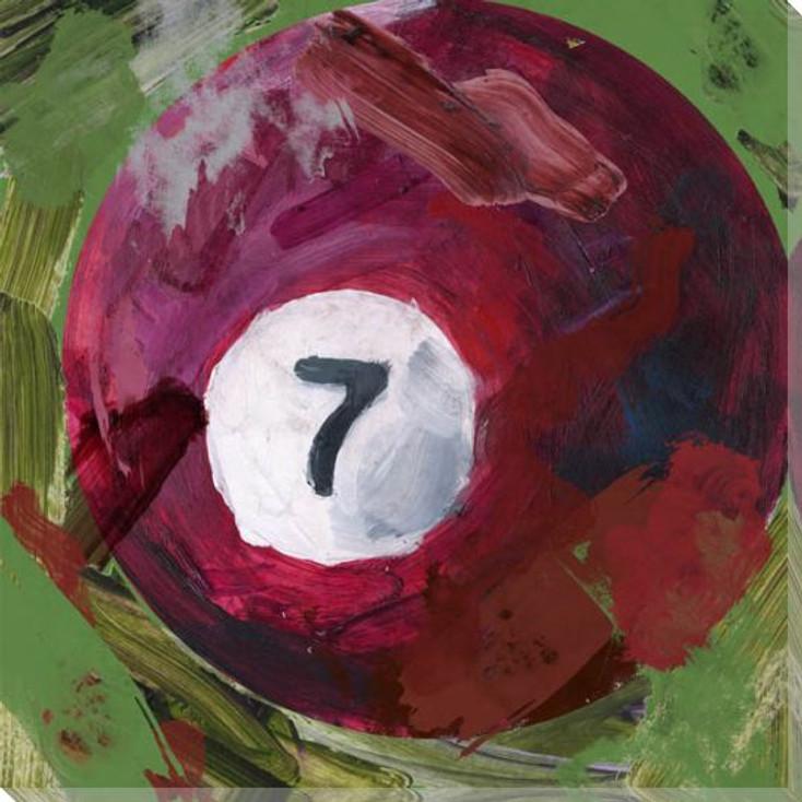 Billiard 7 Ball Wrapped Canvas Giclee Print Wall Art