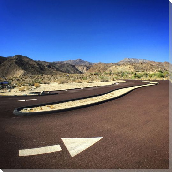 Switchback Desert Road Scene Wrapped Canvas Giclee Print Wall Art