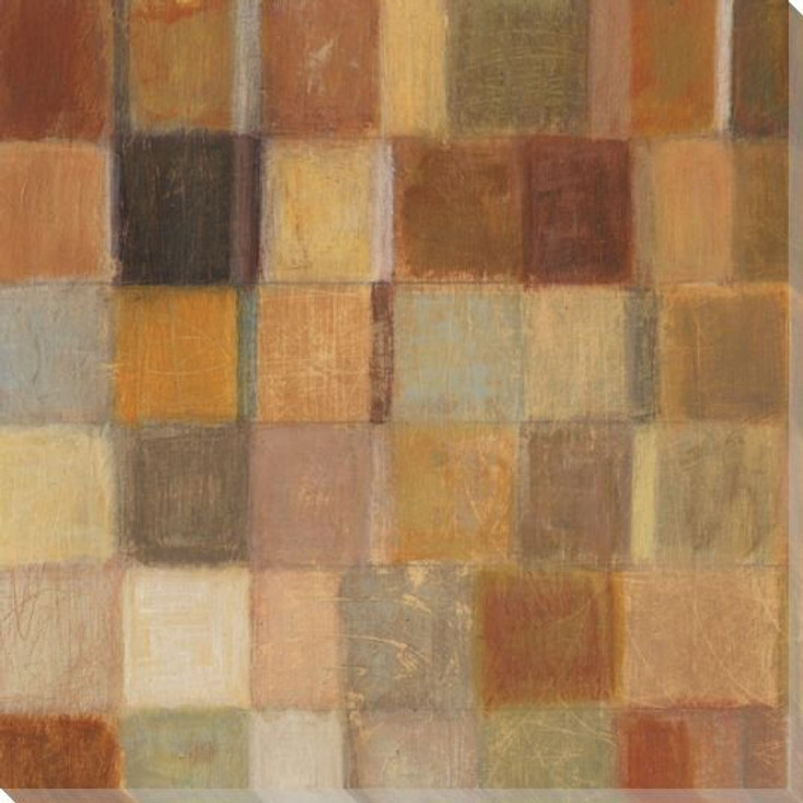 Autumn Quilt 1 Wrapped Canvas Giclee Print Wall Art