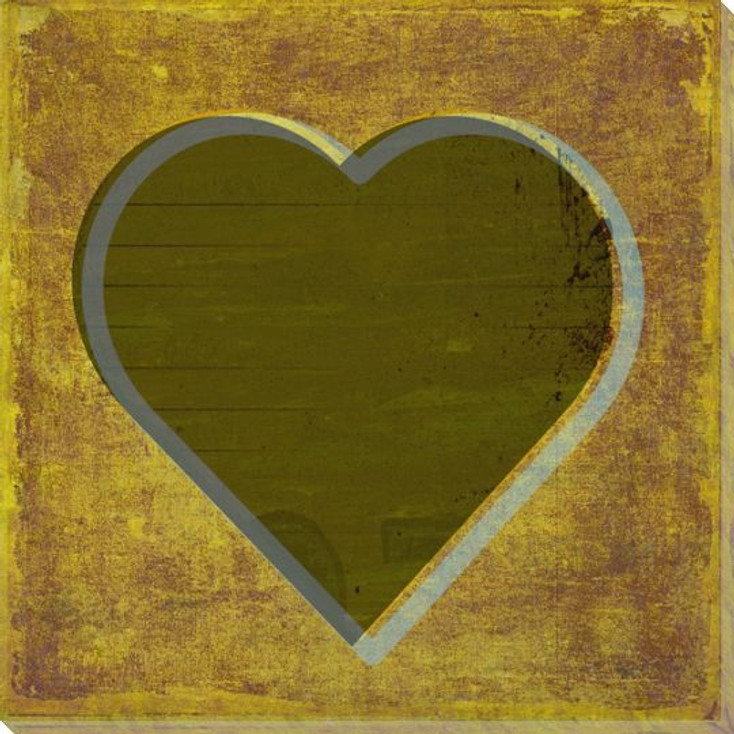 Qwerties Heart Wrapped Canvas Giclee Print Wall Art