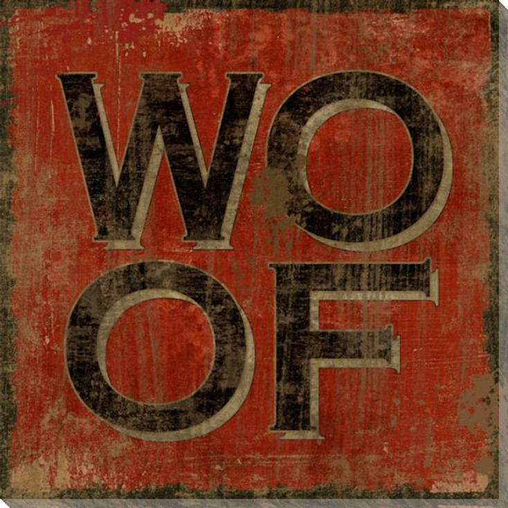 """""""Woof"""" Wrapped Canvas Giclee Print Wall Art"""