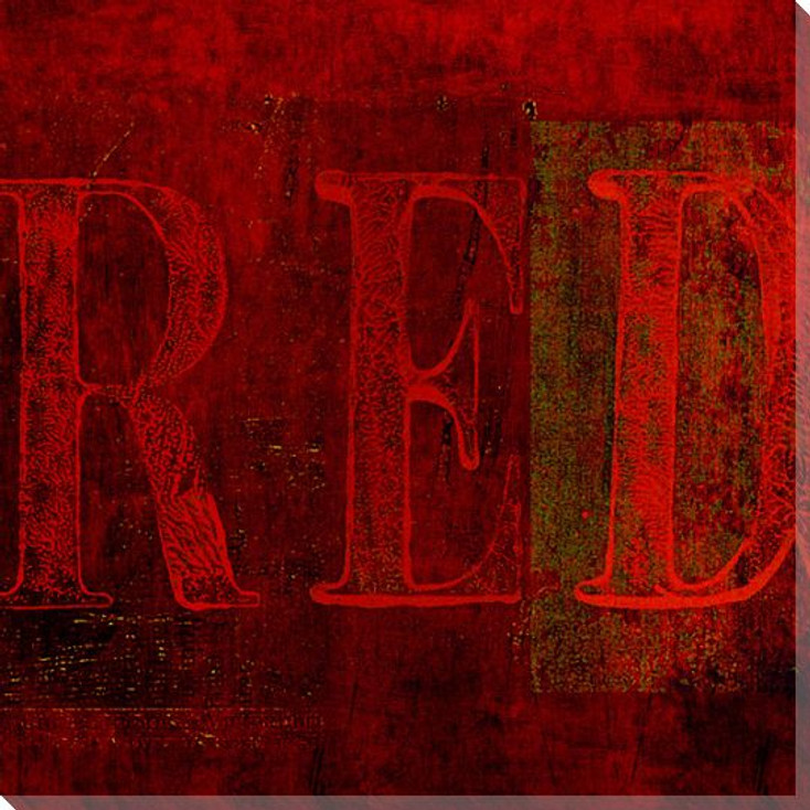 """""""Red"""" Block Wrapped Canvas Giclee Print Wall Art"""