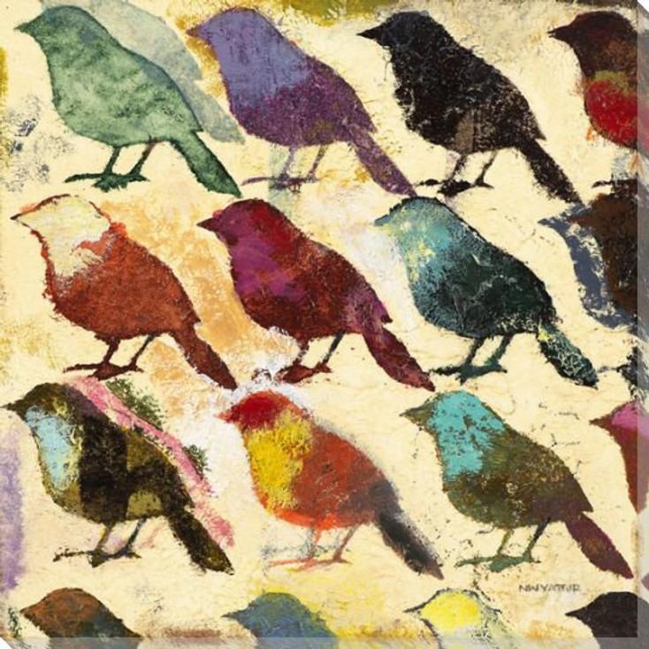 Bird Day II Wrapped Canvas Giclee Print Wall Art