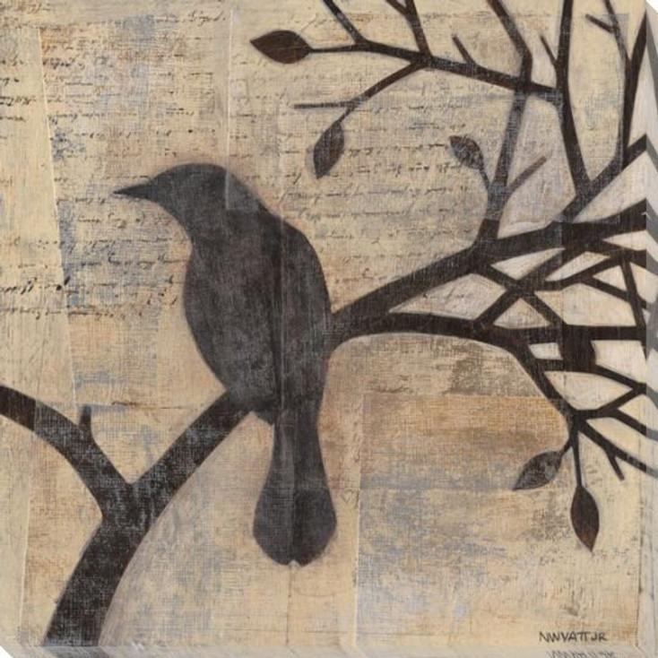 Evening Watch Bird I Wrapped Canvas Giclee Print Wall Art