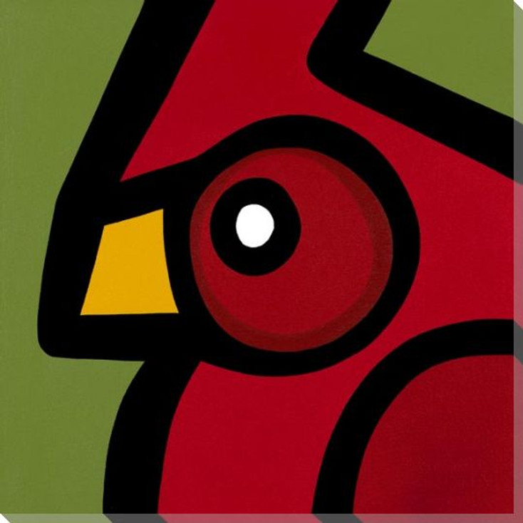 Bold Cardinal Bird Wrapped Canvas Giclee Print Wall Art