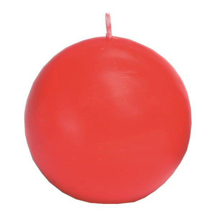 """2.5"""" Red Ball Candles, Set of 8"""