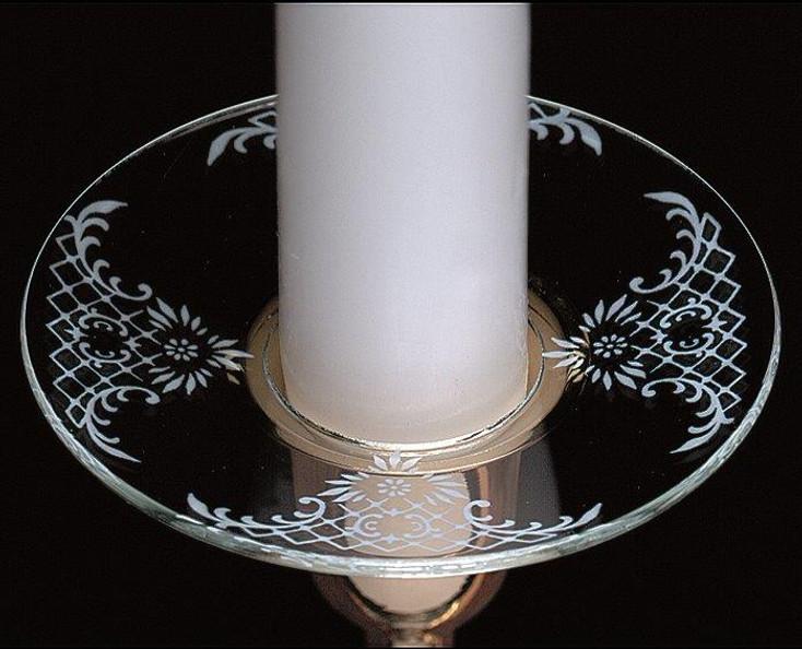 White Lace Bobeche Glass Candle Wax Catchers, Set of 12