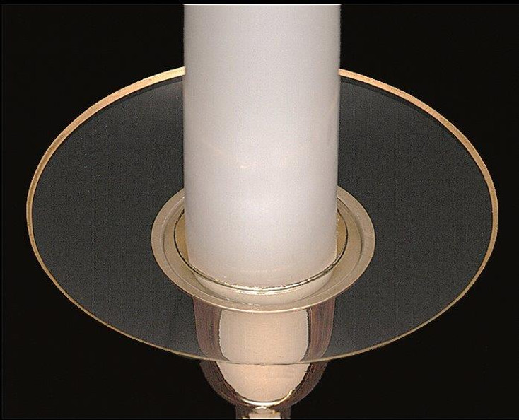 Glass Bobeche with Gold Rim Candle Wax Catchers, Set of 12