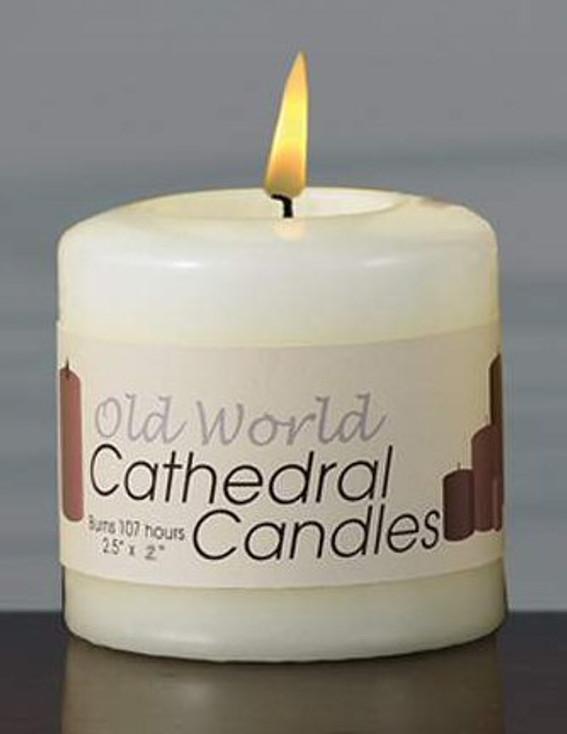 "3"" Old World Altar Unscented Pillar Candles, Set of 12"