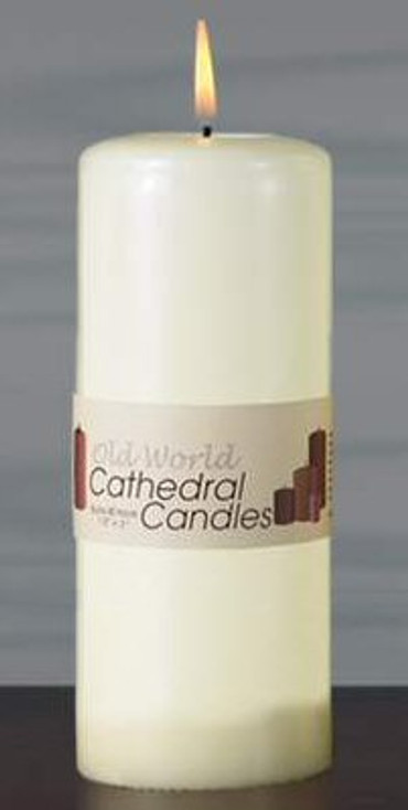 "6"" Old World Altar Unscented Pillar Candles, Set of 12"