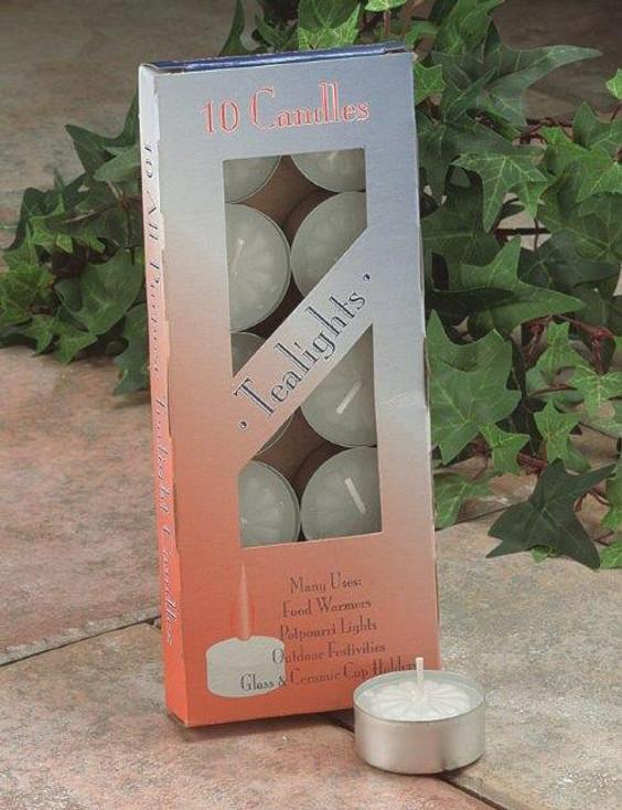 White Tea Light Candles, Set of 30