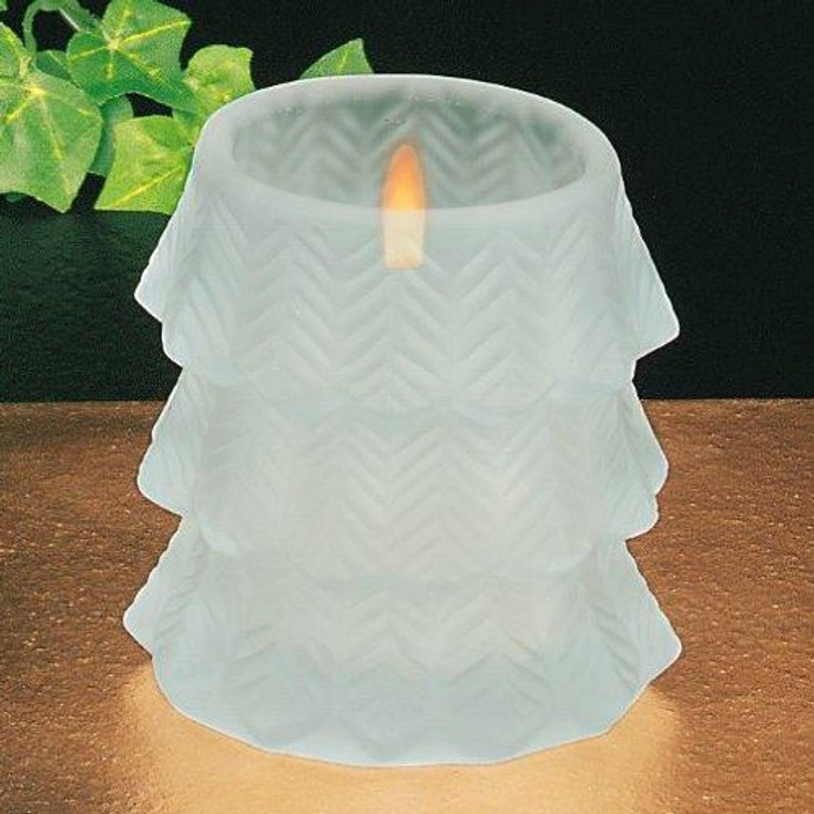 Frosted Glass Oval Votive Candle Holders, Set of 6