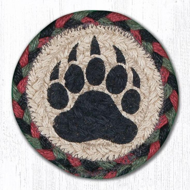 Bear Paw Braided Jute Coasters, Set of 8