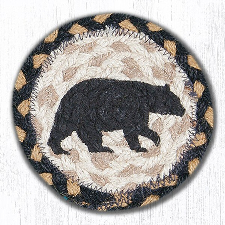 American Bear Braided Jute Coasters, Set of 8
