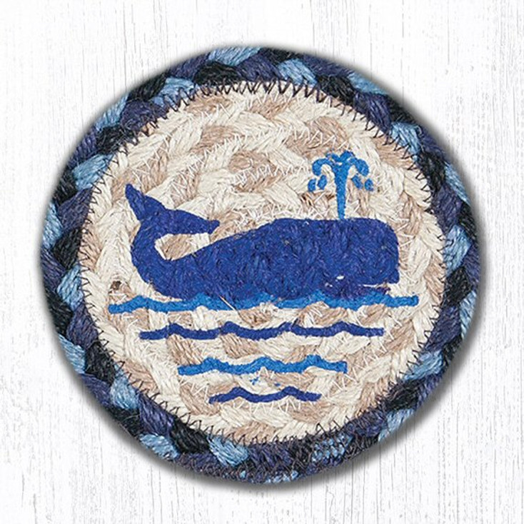 Whale Braided Jute Coasters Harry W. Smith, Set of 8