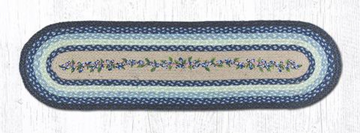 """13"""" x 48"""" Blueberry Vine Jute Oval Table Runner by Harry W. Smith"""