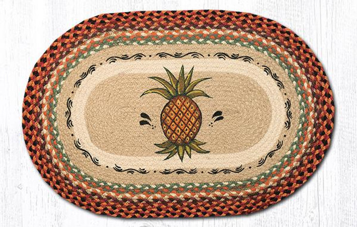 "20"" x 30"" Pineapple Braided Jute Oval Rug by Phyllis Stevens"