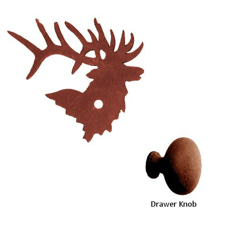 Elk Metal Drawer Pull with Back Plate