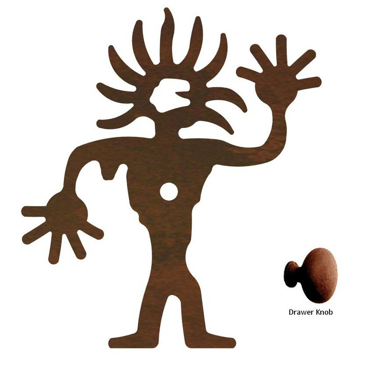 Sunhead Man Metal Drawer Pull with Back Plate