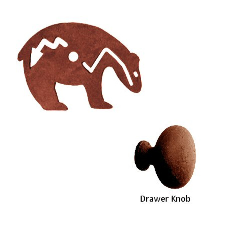 Fetish Bear Metal Drawer Pull with Back Plate